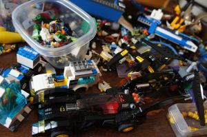 Current state of the living room coffee table. I assure you it's only the tip of the iceberg when it comes to our Lego consumption...
